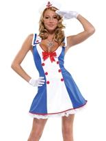 Par-dessus bord Sailor Costume Costume marine