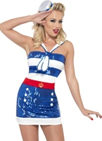 Fièvre Sequin Sailor Costume Costume marine