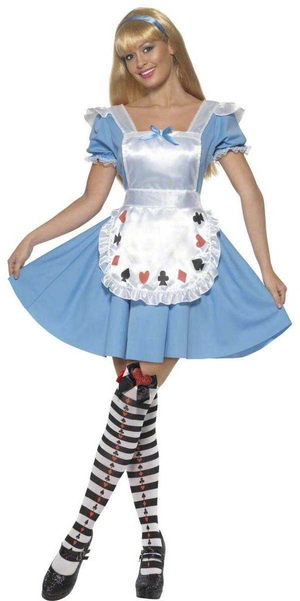 Costume princesse Jeu de cartes Alice Girl Costume