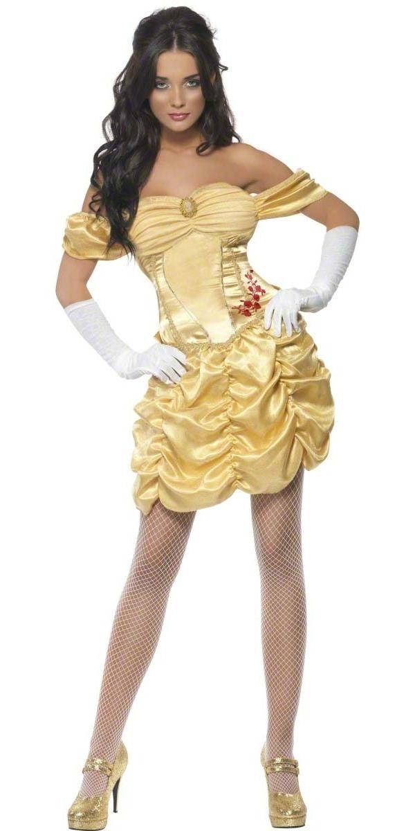 Costume princesse Costume de princesse dorée de fièvre