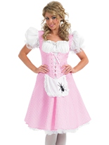 Miss Muffet longue robe Costume Costume princesse