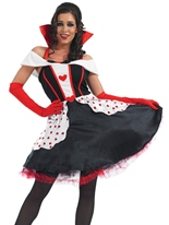 Queen of Hearts longue robe Costume Costume princesse