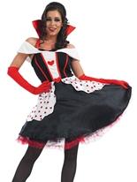 Queen of Hearts longue robe Costume Costume princesse