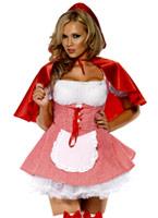Costume de chaperon rouge blanc Costume princesse