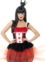 Queen of Hearts Costume s'allument Costume princesse