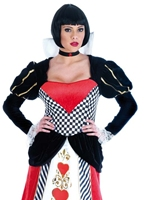 Queen of Hearts robe longue Costume princesse