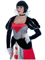 Costume princesse Queen of Hearts robe longue