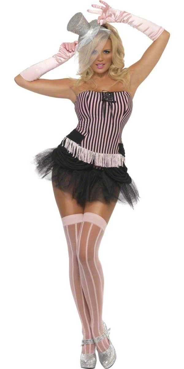 Moulin Rouge Fièvre Fringe Stripe Costume Burlesque