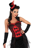 Costume Robe Burlesque rouge Moulin Rouge