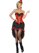 Costume de danseuse Burlesque rouge Moulin Rouge