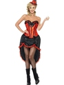 Moulin Rouge Costume de danseuse Burlesque rouge