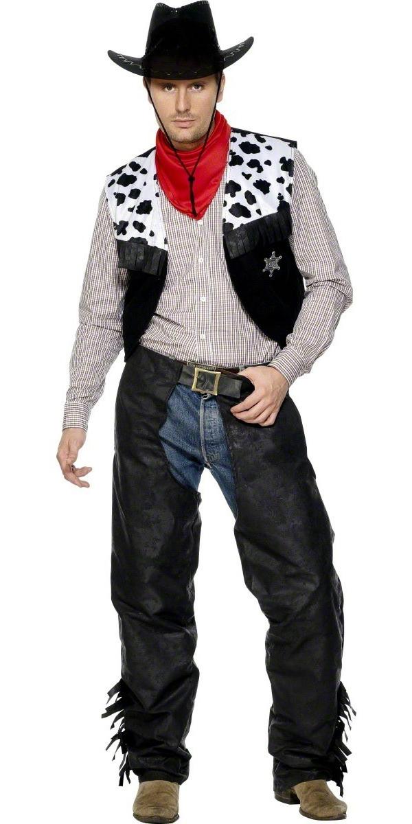 Déguisement de cow-boy Cow-Boy Set cuir noir