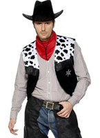 Cow-Boy Set cuir noir Déguisement de cow-boy