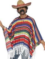 Poncho Multi couleur Déguisement de cow-boy