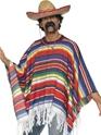 Déguisement de cow-boy Poncho Multi couleur
