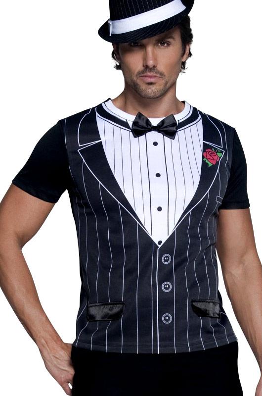Costume 1708 Homme De T Shirt Gangster Déguisement SzUpGqMV