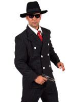 Gangtser costume Costume noir Costume de Gangster