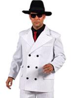 Gangtser costume Costume blanc Costume de Gangster