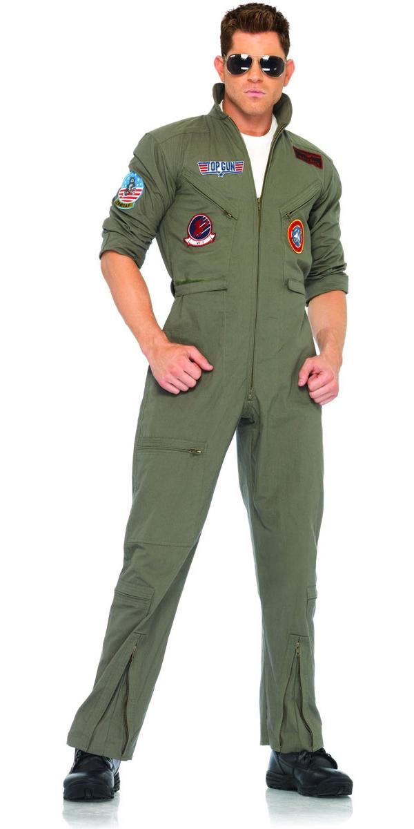 combinaison de vol de top gun costume pilote d guisement homme 02 07 2018. Black Bedroom Furniture Sets. Home Design Ideas