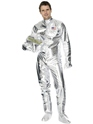Costume pilote Spaceman Costume argent