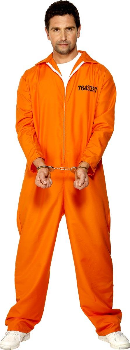 Déguisement Policier Prisonnier évadé Orange