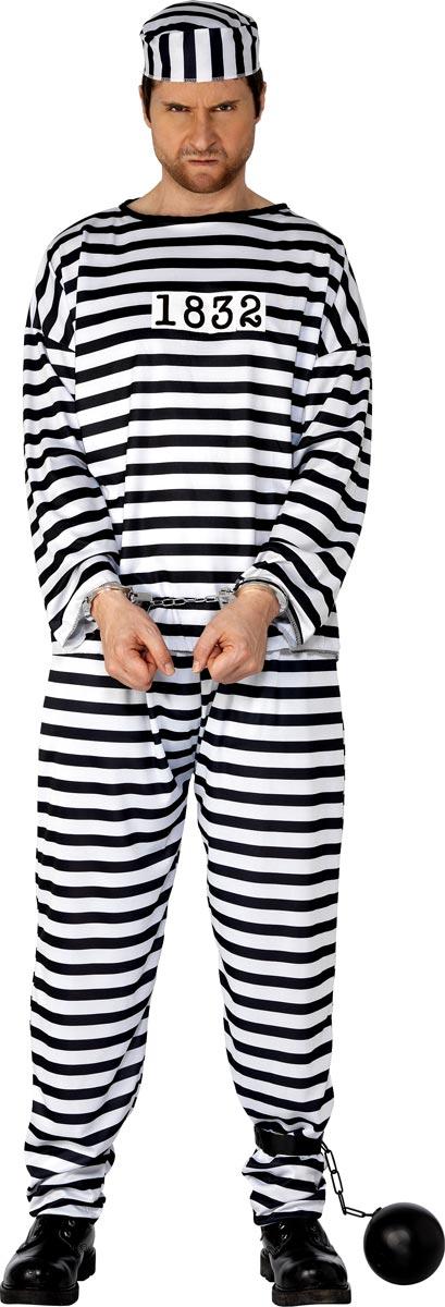Déguisement Policier Costume de bagnard