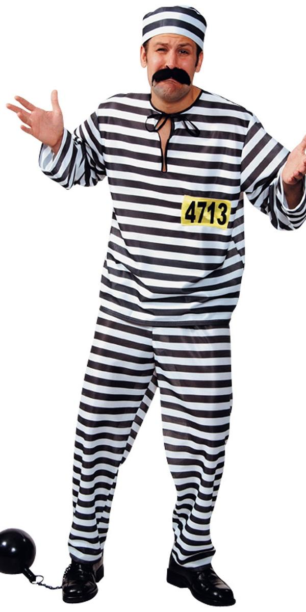 Déguisement Policier Costume de bagnard rayé