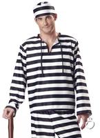 Costume de prisonnier Jailbird Deluxe Déguisement Policier
