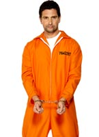 Prisonnier évadé Orange Déguisement Policier