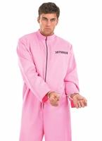 Costume masculin prisonnier rose Déguisement Policier