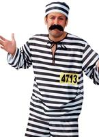 Costume de bagnard rayé Déguisement Policier