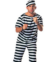 Costume homme prisonnier Déguisement Policier