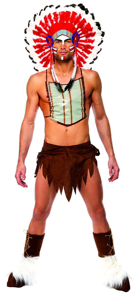 Deguisement Village People Costume d'Indien Village People
