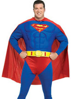 Superman Deluxe Muscle poitrine Costume grande taille Déguisement Grande Taille