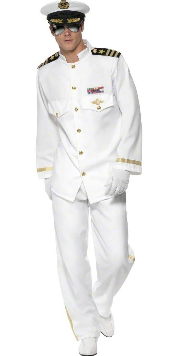 Costumes de marin Costume de capitaine de la marine Mens Deluxe