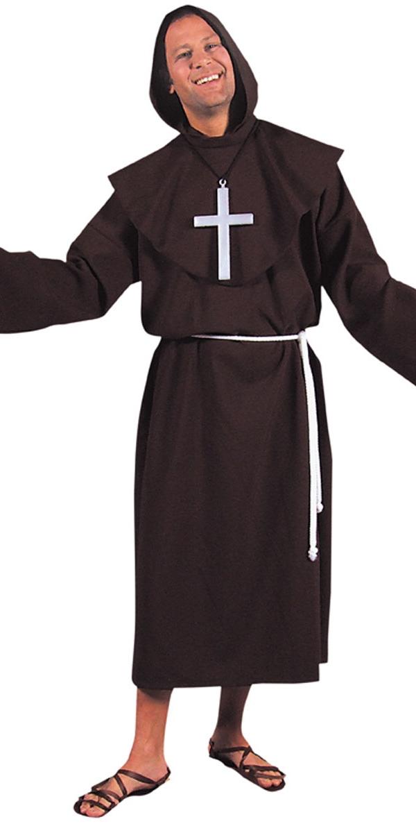 Costume Curé Moine luxe Costume marron