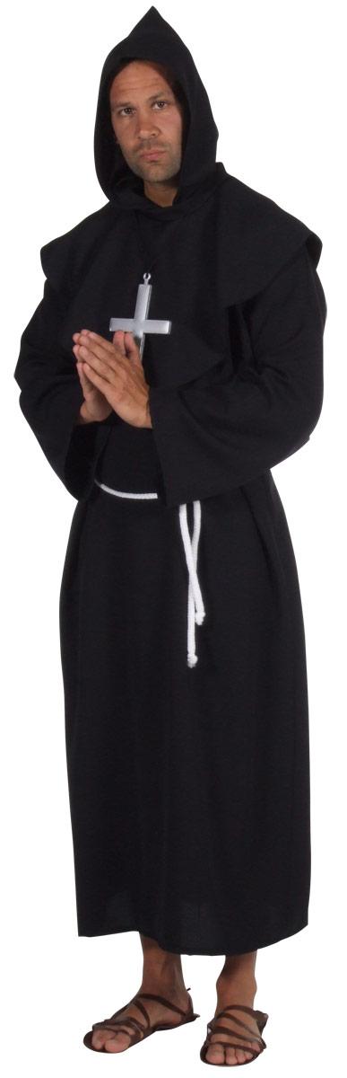 Costume Curé Les moines Deluxe Costume noir