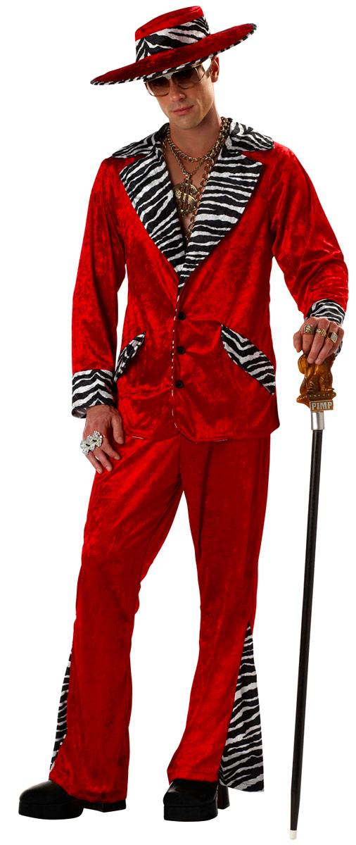 Déguisement proxénète Costume rouge de proxénète