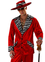 Costume rouge de proxénète Déguisement proxénète