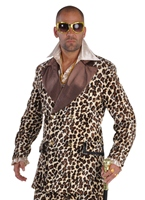Costume Pimp impression léopard Deluxe Déguisement proxénète