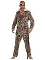 Déguisement proxénète Costume Pimp impression léopard Deluxe