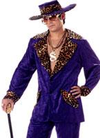 Costume proxénète violet Déguisement proxénète