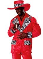 Costume proxénète Playa chaud rouge Déguisement proxénète