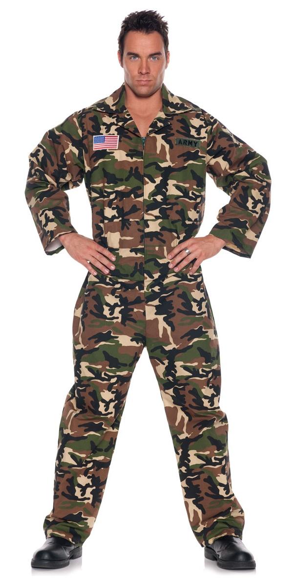 Costumes de soldat Armée Jumpsuit Costume