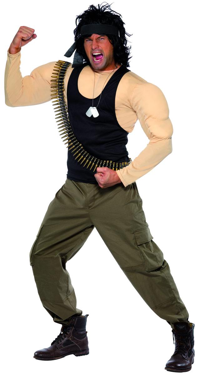 Costumes de soldat Costume Rambo