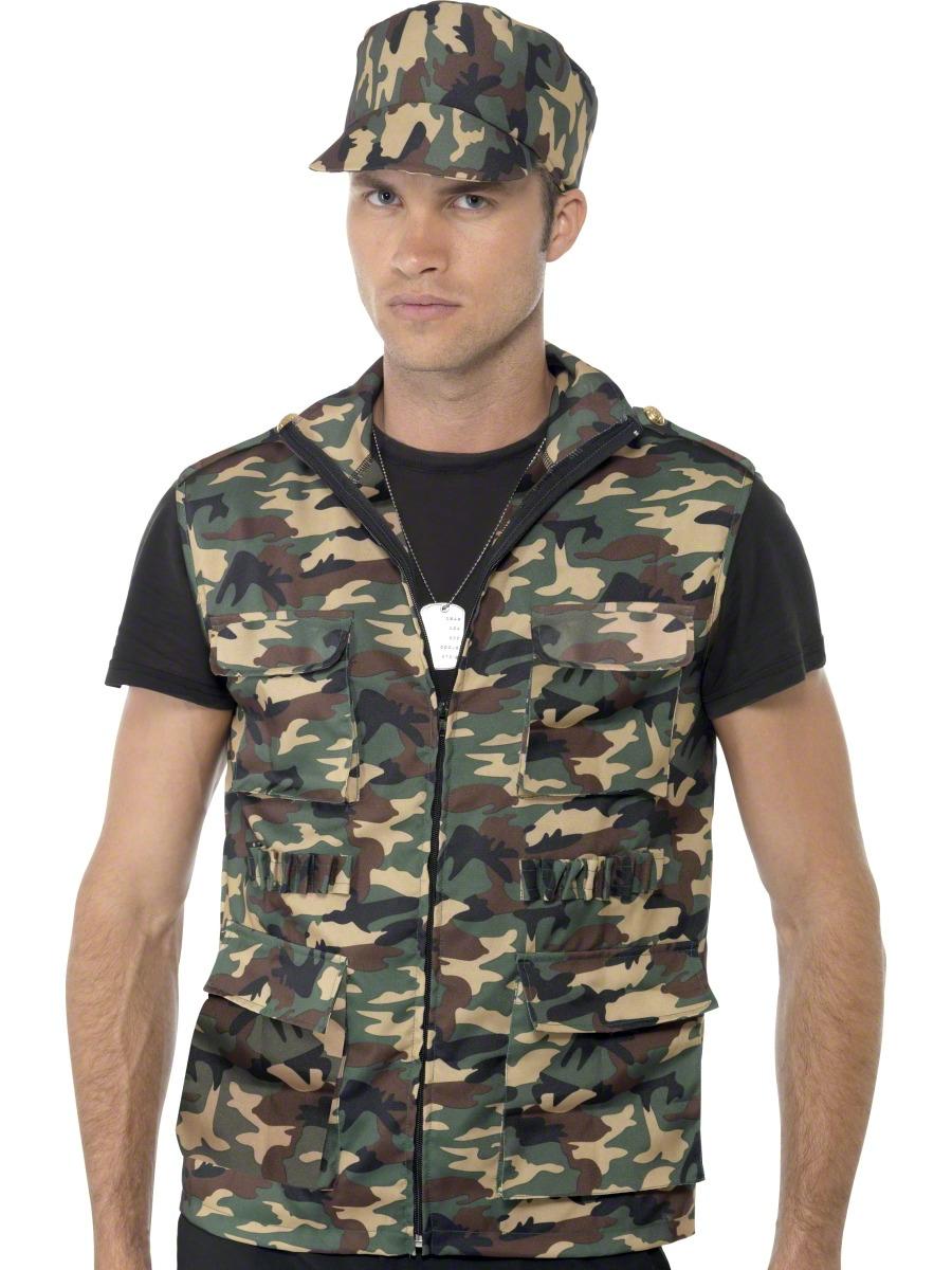 Costumes de soldat Armée Guy Kit instantanée
