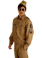 Costume d'IG masculin américain des années 1940 Costumes de soldat