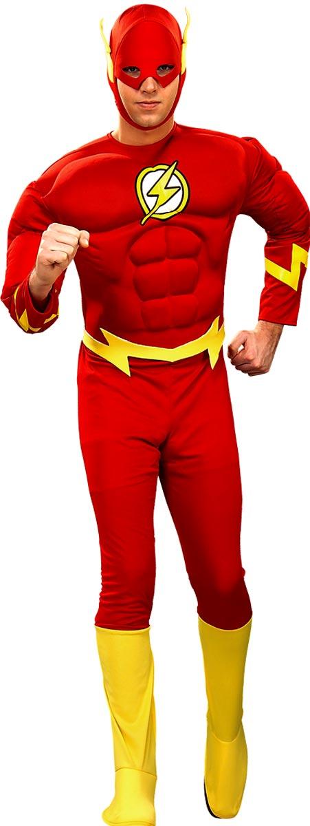 Costume de super-héros Costume de poitrine de Muscle Flash Deluxe