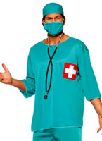 Chirurgiens Costume bleu Costume de Docteur