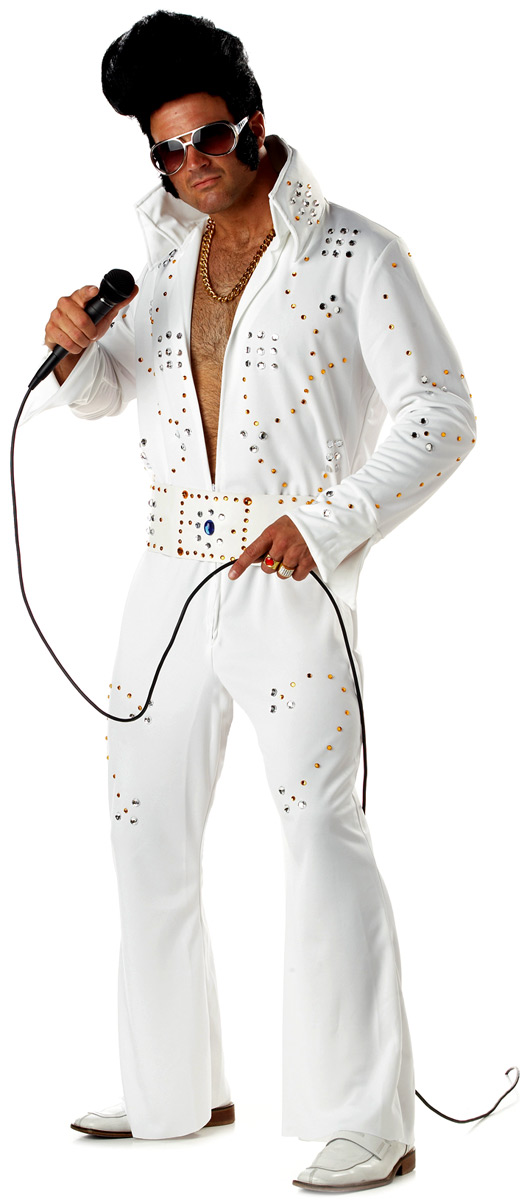 Elvis Costume Légende du rock empierré Costume